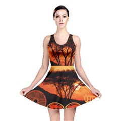 Africa Safari Summer Sun Nature Reversible Skater Dress