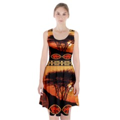 Africa Safari Summer Sun Nature Racerback Midi Dress