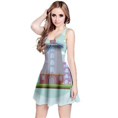 Amsterdam Landmark Landscape Reversible Sleeveless Dress