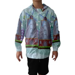 Amsterdam Landmark Landscape Hooded Wind Breaker (Kids)