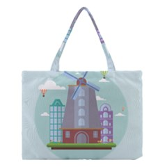 Amsterdam Landmark Landscape Medium Tote Bag