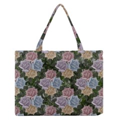 Rose Garden Medium Zipper Tote Bag