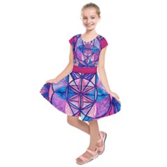 Feminine Interconnectedness - Kids  Short Sleeve Dress