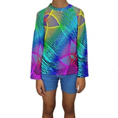 Arrangement Aesthetics Aesthetic Kids  Long Sleeve Swimwear