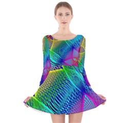 Arrangement Aesthetics Aesthetic Long Sleeve Velvet Skater Dress