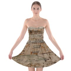 Background Grunge Old Houses Town Strapless Bra Top Dress
