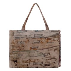 Background Grunge Old Houses Town Medium Tote Bag