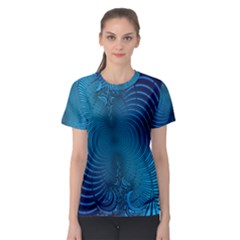 Background Brush Particles Wave  Women s Sport Mesh Tee