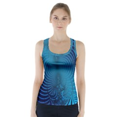 Background Brush Particles Wave  Racer Back Sports Top