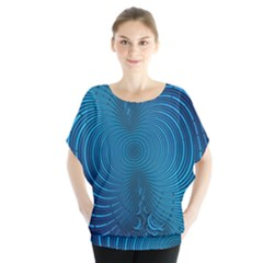 Background Brush Particles Wave  Blouse