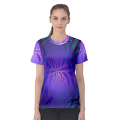 Background Brush Particles Wave 3 Women s Sport Mesh Tee