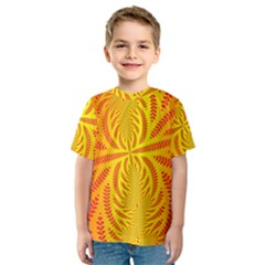 Background Brush Particles Wave Kids  Sport Mesh Tee