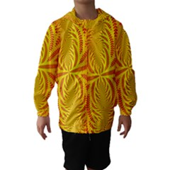 Background Brush Particles Wave Hooded Wind Breaker (Kids)