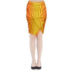 Background Brush Particles Wave Midi Wrap Pencil Skirt