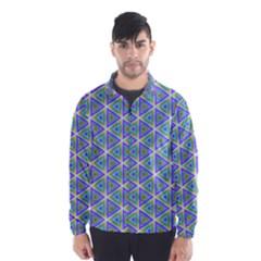 Colorful Retro Geometric Pattern Wind Breaker (men)