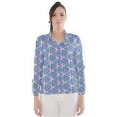 Colorful Retro Geometric Pattern Wind Breaker (Women)
