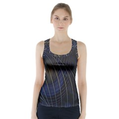 Background Fractal Peacock Pipe Racer Back Sports Top