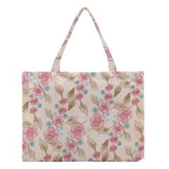 Background Page Template Floral  Medium Tote Bag