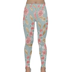 Background Page Template Floral 2 Yoga Leggings
