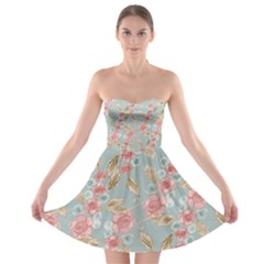 Background Page Template Floral 2 Strapless Bra Top Dress