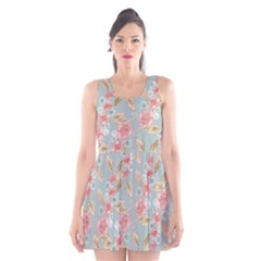 Background Page Template Floral 2 Scoop Neck Skater Dress