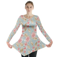 Background Page Template Floral 2 Long Sleeve Tunic