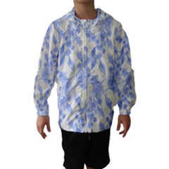 Background Page Template Floral Hooded Wind Breaker (Kids)