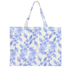 Background Page Template Floral Large Tote Bag