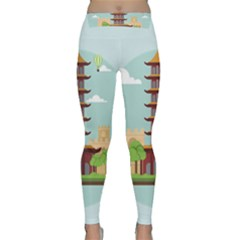 China Landmark Landscape Chinese Yoga Leggings