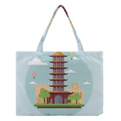 China Landmark Landscape Chinese Medium Tote Bag