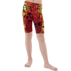 Board Conductors Circuits Kids  Mid Length Swim Shorts