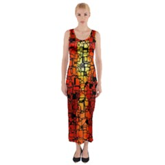 Board Conductors Circuits Fitted Maxi Dress