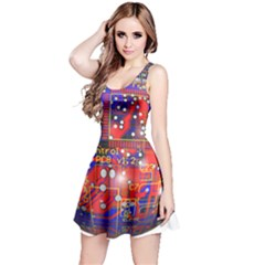 Board Ball About Head Board Reversible Sleeveless Dress