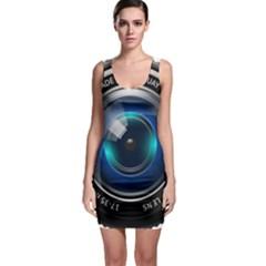 Camera Lens Prime Lens Photography Sleeveless Bodycon Dress