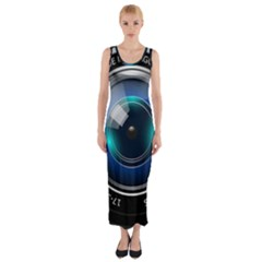 Camera Lens Prime Lens Photography Fitted Maxi Dress