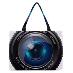 Camera Lens Prime Lens Photography Medium Zipper Tote Bag