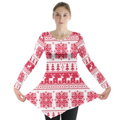 Christmas Pattern Long Sleeve Tunic