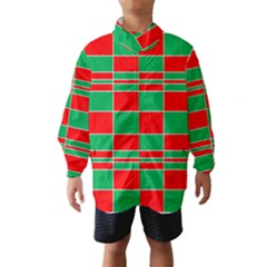 Christmas Colors Red Green White Wind Breaker (Kids)