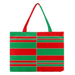Christmas Colors Red Green White Medium Tote Bag