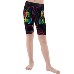 Christmas Greeting Desire Kids  Mid Length Swim Shorts