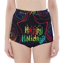 Christmas Greeting Desire High-Waisted Bikini Bottoms
