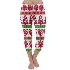 Christmas Icon Set Bands Star Fir Capri Winter Leggings