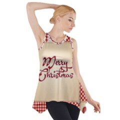 Mary Christmas Pattern Side Drop Tank Tunic