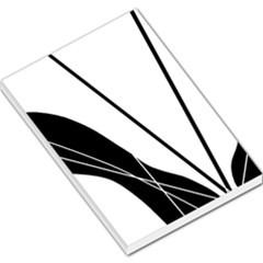 White and Black  Large Memo Pads