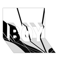 White and Black  BOY 3D Greeting Card (7x5)