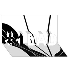 White and Black  #1 DAD 3D Greeting Card (8x4)