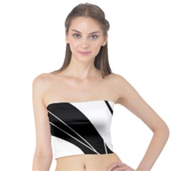 White and Black  Tube Top