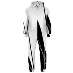 White and Black  Hooded Jumpsuit (Men)