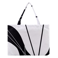 White and Black  Medium Tote Bag