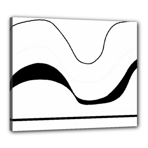Waves   Black And White Canvas 24  X 20
